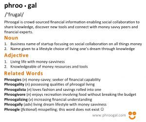 Phroogal Definition