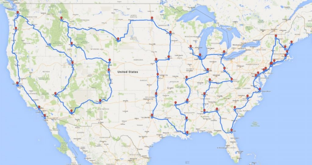 Road to Financial Wellness 2016 Road Trip Map