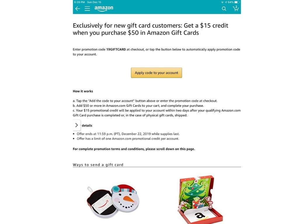 Amazon gift card 1