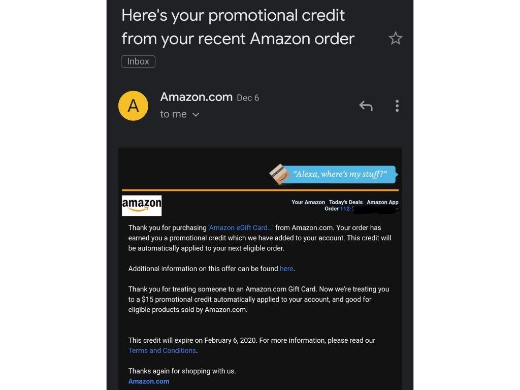 Amazon gift card 2