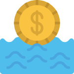 calculate cash flow manage money icon
