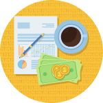 personal finance basics manage money icon