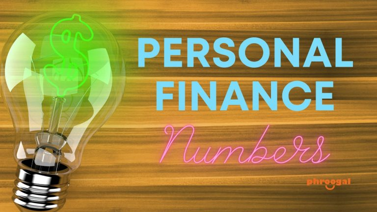 Personal finance numbers